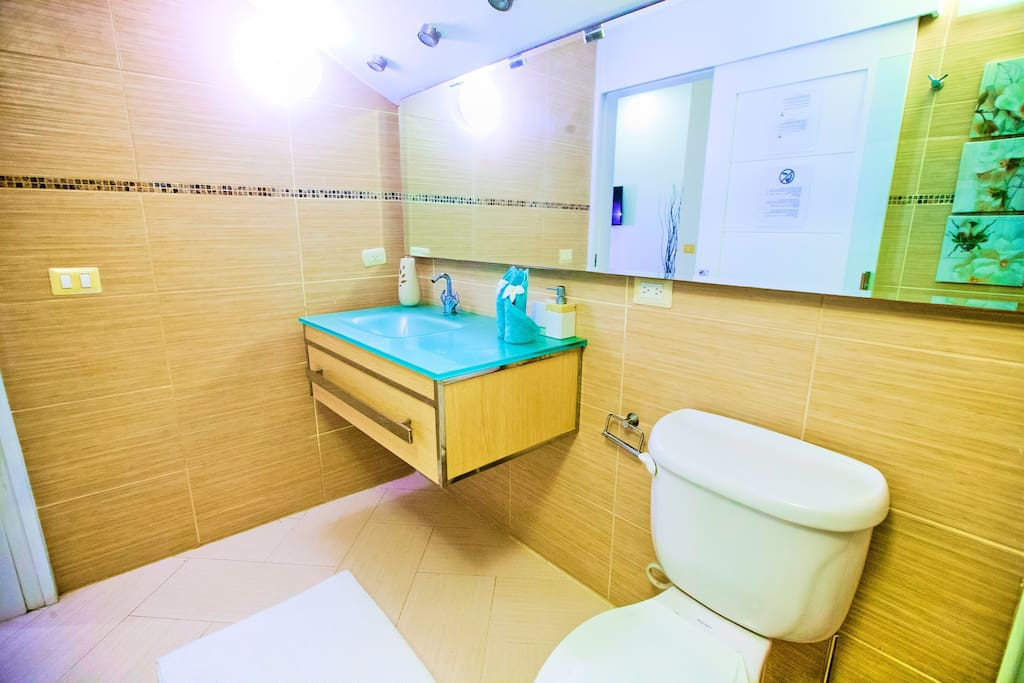 Clean and fully equipped bathrooms have everything you need for a comfortable stay.