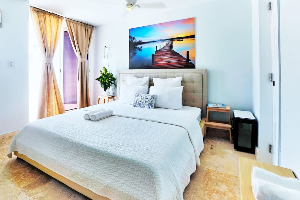 The bed is very comfortable with quality mattress and fresh linen.